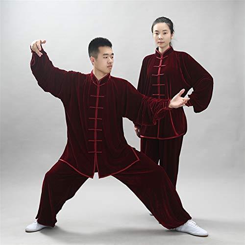 BAJIE Tai Chi Uniforme Ropa Marcial Letras Tradicional Hombres Mujer Vestir Shaolin ala Chun Taekwondo Algodón Formación Ropa (Color : E, Size : XXXL)