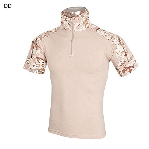 DLP Tactical Gen 3 Short Sleeve Combat Shirt (AOR1 Digital Desert, XXLarge)