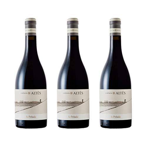Herència Altés La Peluda Vino Tinto - 3 botellas x 750ml - total: 2250 ml