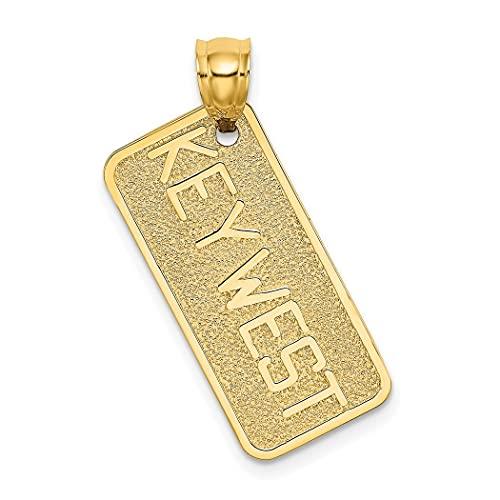 Collar con colgante de placa de matrícula de 14 quilates, pulido sólido, con textura en la parte posterior, no grabable, regalo para mujeres