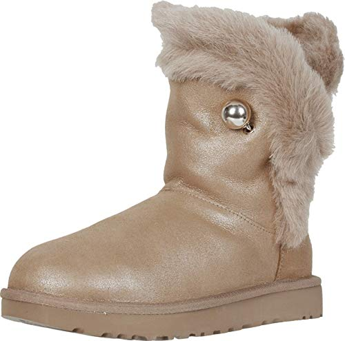 Botas UGG W Classic Fluff Pin Beige Mujer 6 Beige