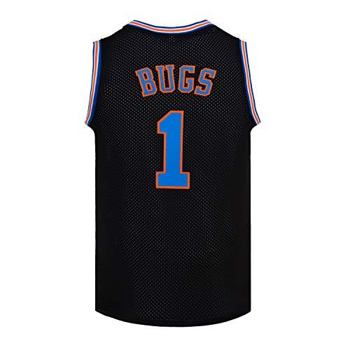 CNALLAR Camiseta de baloncesto para hombre, diseño de Bugs 1, color blanco y negro, Negro, XX-Large
