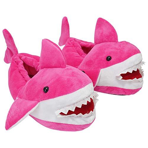 Zapatillas de hombre, mujer y niños, diseño de tiburón 3D con espalda completa, mini me a juego para papá, mamá y niños, color, talla 47 EU