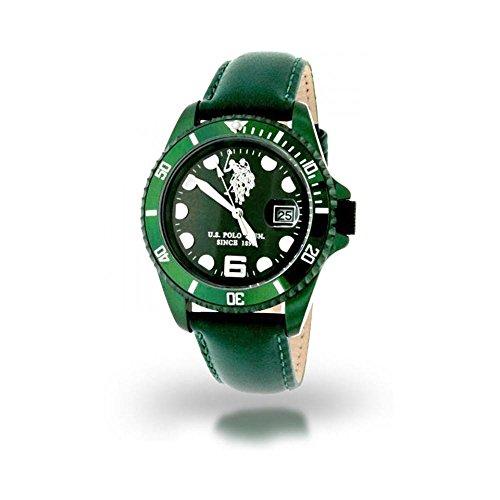 US Polo Association Reloj Analógico para Hombre de Cuarzo con Correa en Cuero USP4068GR