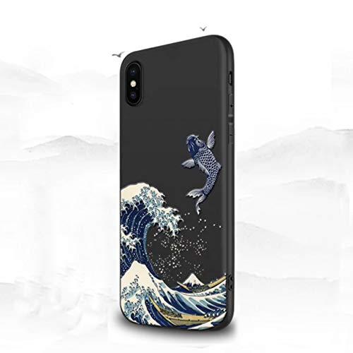 Anti-caída iPhone caso para Iphone 12 11 Pro Max 7 8 6S 6 S Plus caso lindo 3D onda cubierta para fundas iphone se 2020 X Xr Xs Max 5 S 5S Apple teléfono casos