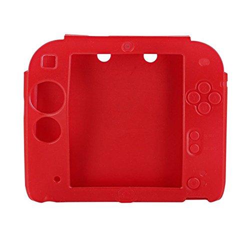 Siliconen beschermhoes voor Nintendo 2DS,beschermhoes voor gamepad en Nintendo Switch accessoires, rood