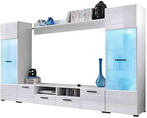 El conjunto de sala de estar, el paquete de la sala de estar de la unidad de pared del interruptor, el diseño y la función modernos son perfectos,White