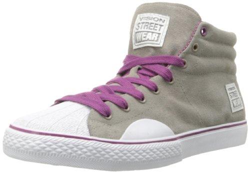 Vision Street WearSuede Hi-W - Wildleder, hoch-w Damen, Grau (Grau/Violett), 35 B(M) EU