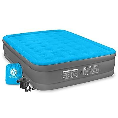 Air Comfort Camp Mate Air Mattress with High Power Battery Pump - Queen Size