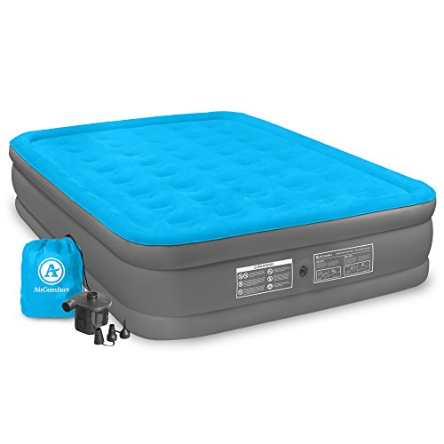 Air Comfort Camp Mate Air Mattress with High Power Battery Pump - Queen Size