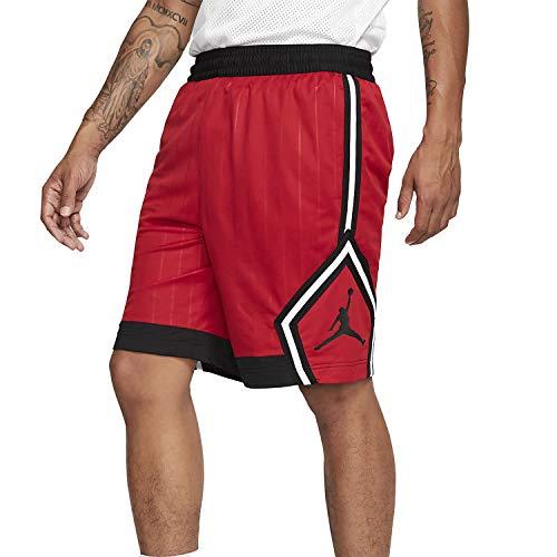 Nike M J Jm Diamond Striped Short, Pantaloncini Sportivi Uomo, Gym Red/Gym Red/Black/Black, M