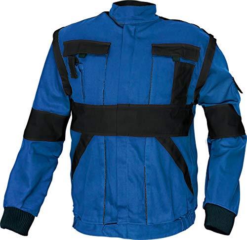 Stenso Chaqueta Chaleco de Trabajo Multiusos MAX - Ropa de Trabajo para Hombre - 2 en 1 para Todo el año - Azul/Negro - 2XL (EU60)