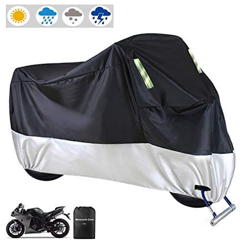 Motorrad Abdeckplane Outdoor Motorradabdeckung Moped Abdeckung Wasserdicht Roller Regenschutz Sonnenschutz für Alle Motorräder