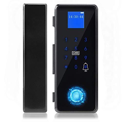 Cerradura de puerta inteligente, Cerradura de la Puerta de APP de la tarjeta IC con contraseña de huella dactilar inteligente para el sistema de control de acceso de la puerta de vidrio sin marco