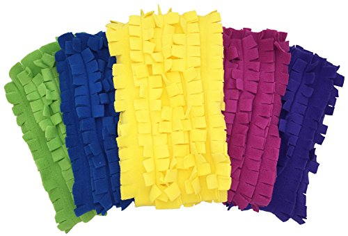 Xanitize Fleece XL Sweeper Mop Refills for Swiffer X-Large - Reusable, Dry Duster, for Hardwoods, Laminates - 5-Pack Rainbow II