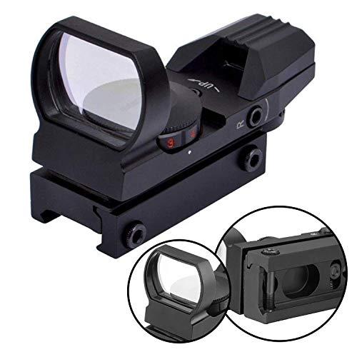 BOMT Zielfernrohr Rot Und Grün Punkt Visier Luftgewehr Gewehr-Bereich mit 11mm/20mm/22mm Montage für Jagd und Sport(HD101, 20mm Montagen)