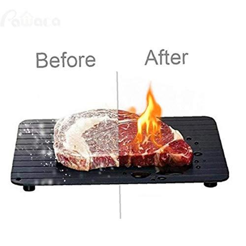 Bandeja de descongelación rápida para alimentos congelados Descongelación Placa de descongelación de la carne de...