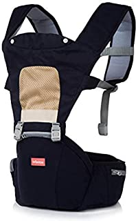 INFANTSO 4-in-1 Adjustable Hip SEAT Baby Carrier Soft & Comfortable with Safety Belt, Multi-Utility Pockets & Wide Cushion...