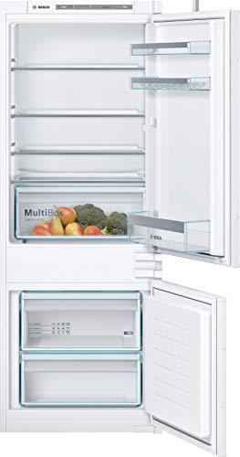 Bosch KIV67VSF0 Serie 4 Einbau-Kühl-Gefrier-Kombination / F / 145 cm Nischenhöhe / 245 kWh/Jahr / 157 L Kühlteil / 52 L Gefrierteil / LowFrost / FreshSense