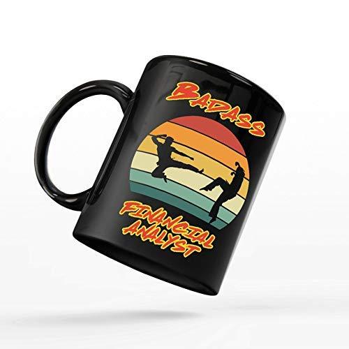 N\A Taza de café para Analista financiero - Taza Cobra Kai - Analista financiero rudo compañero de Trabajo - Tazas Divertidas Regalos de un Amigo