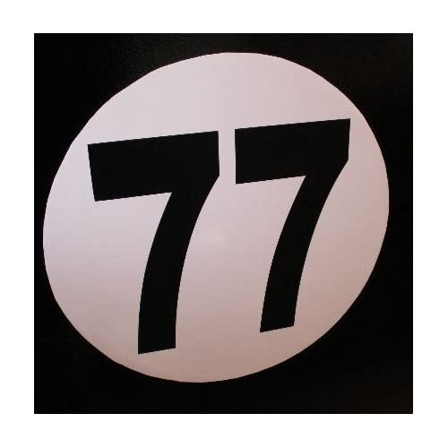 Self self adhesive stickers numbered vinyl numeral number 1 2 3 4 5/'/' race car
