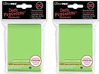 Ultra Pro (100X) Lime Green (Light) Deck Protectors Sleeves Standard MTG Colors