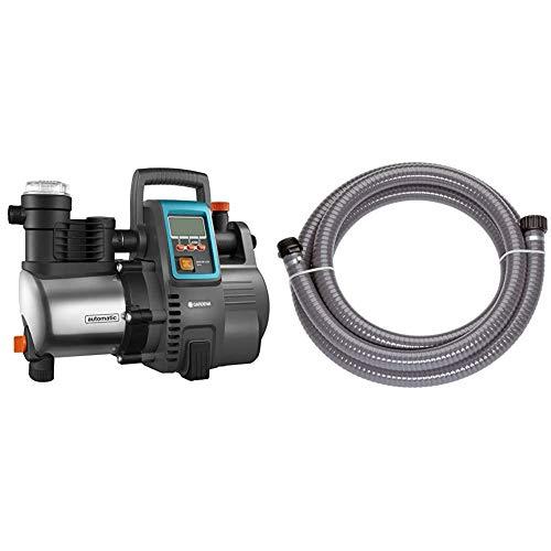 Gardena Premium Hauswasserautomat 6000/6E LCD Inox: Hauswasserpumpe mit 6000 l/h Fördermenge & Saugschlauch 3.5 m: Robuster Ansaugschlauch zur Verlängerung der Sauggarnitur, Durchmesser 25 mm