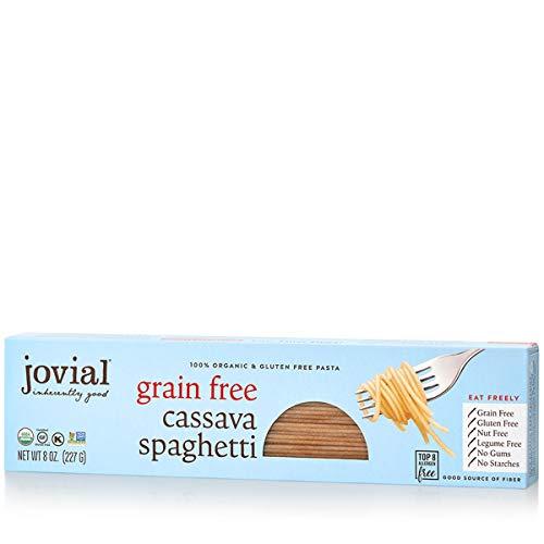 Jovial Grain-Free Cassava Spaghetti | Cassava Pasta | Paleo Pasta | Grain-Free | Certified Gluten-Free | 100% Organic Pasta | USDA Certified Organic | Non-GMO | High-Fiber | 8 oz (6 pack)
