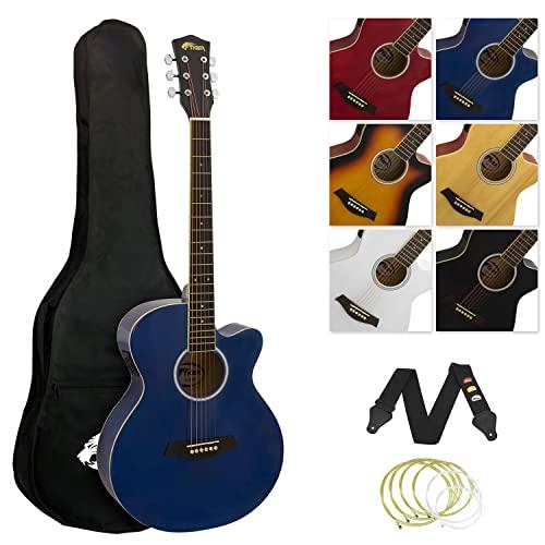 TIGER Music Acg4-Bl - Set Chitarra Acustica Amplificabile, colore Blu
