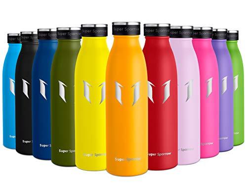 Super Sparrow Borraccia Termica – 750ml | Bottiglia Acciaio Inox Isolamento | Senza BPA - Borracce per Bambini, Scuola, Sport, All'aperto, Palestra, Yoga