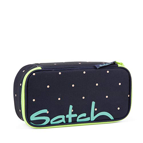 Satch Schlamperbox - Mäppchen groß, Trennfach, Geodreieck - Pretty Confetti - Blau