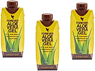 Forever Living Aloe Vera Gel, 330ML - (Pack of 3)