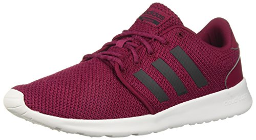 adidas Women's QT Racer Running Shoe, Mystery Ruby/Mystery Ruby/Carbon, 10 M US