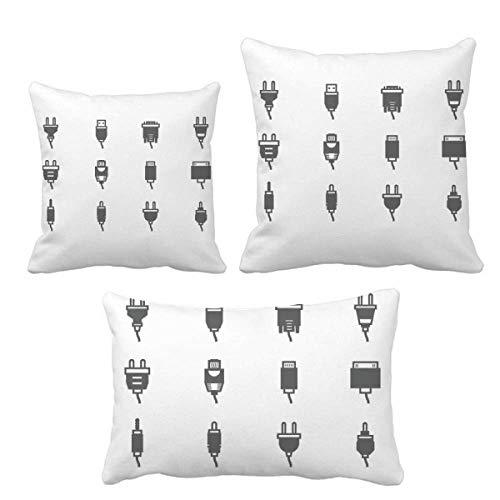 DIYthinker Diagrama de circuito enchufe patrón de enchufe juego de almohadas inserto funda de cojín para el hogar sofá decoración regalo