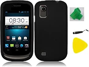 Black Hard Phone Case Cover Cell Phone Accessory + Yellow Pry Tool + Stylus Pen + EXTREME Band for AT&T Avail 2 / ZTE Avail 2 Z992