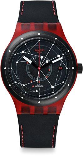 Swatch Reloj Digital para Hombre de Automático con Correa en Cuero SUTR400