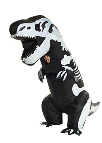 Morphsuits Costume gonfiabile da scheletro di t-rex gigante, taglia unica