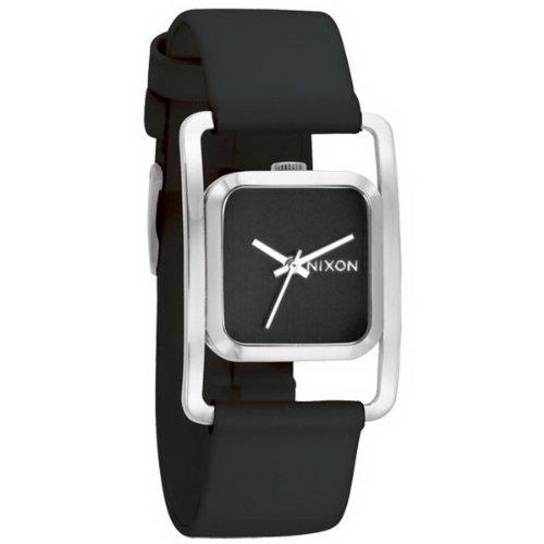 Nixon A239000-00 - Reloj analógico de Cuarzo para Mujer con Correa de Piel, Color Negro