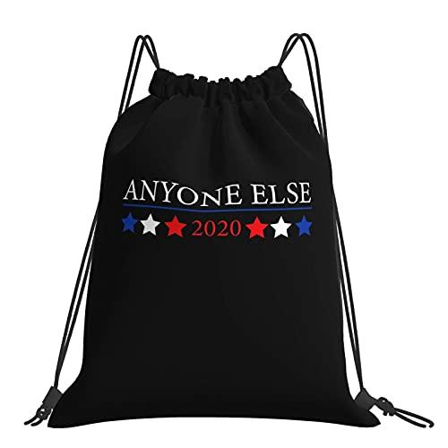 Mochila con cordón Vote Anyone Else 2020 Bolsa de cuerda Cinch Nylon resistente al agua para gimnasio, compras, deporte, Yoga