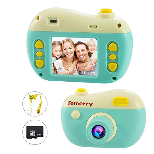 Macchina Fotografica per Bambini, 1080P Bambini Fotocamera Digitale Portatile Mini Recorder DV Videocamera, e supporto 32G Memory Card per i regali di compleanno di 4-12 anni (Marrone)