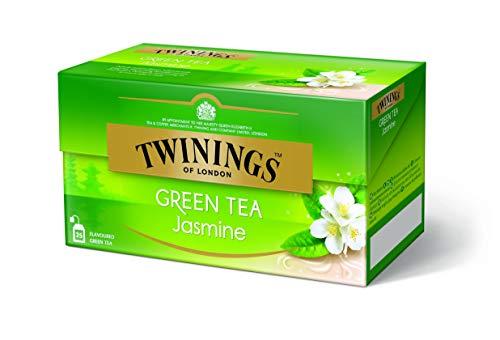 Twinings Green Tea Jasmine - Grüner Jasmin Tee im Teebeutel - Grüntee aus der Provinz Fujian mit Jasminblüten getrocknet für die traditionelle chinesische Mischung, 25 Teebeutel (45 g)