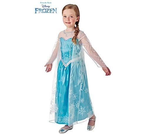 Disney Frozen - Disfraz de princesa Elsa para niña, infantil 5-6 años (Rubie