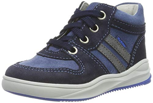 Richter Kinderschuhe Jungen Harry Hohe Sneaker, Blau (Atlantic/River/Ash 7204), 23 EU