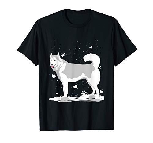 Siberian Husky Geschenk Husky im Schnee T-Shirt