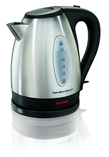 Hamilton Beach 40880 Electric Kettle, 1.7 L, Stainless Steel/Silver (Renewed)