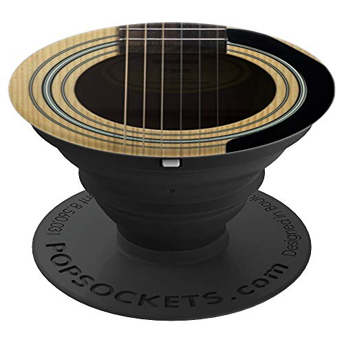 Acoustic Guitar Lover String Sound Hole Rosette Pick Guard PopSockets Grip and Stand for Phones and Tablets