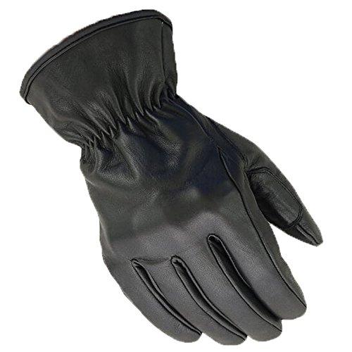 BOSmoto Motorrad Handschuhen Racing Kevlar gewachst Leder Handschuhe Wachs (XL, Schwarz)