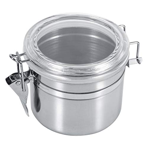 Restokki Coffee Beans Canister, Stainless Steel Airtight Canister Food Storage Container for Kitchen Canning Cereal Sugar Bean Spice 4 Sizes (S)