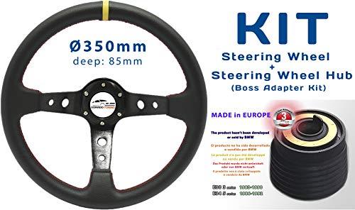[SET 34Y+DTi-60] Dorado Tuning Tiefes Lenkrad & Lenkradnabe/Boss Adapter Kit/Nabe/Rallye/Drift/Race