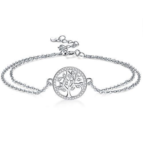 Micory Bracciale Albero Della Vita, Bracciale da donna Argento Sterling 925 ,Confezione Regalo Squisita